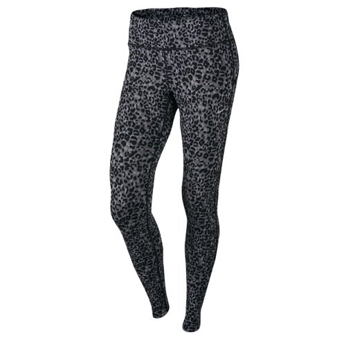 Nike Womens Animal Print Leggings Pants Gray L