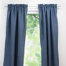 Chooty Rod Pocket Curtain Panel, 54 by 84-Inch, Burlap Navy