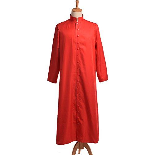 Cassock Priest Costume (BLESSUME Roman Cassock Robe Liturgical Vestments)