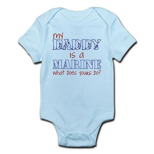 Daddy Marines (CafePress Daddy Is A Marine Infant Bodysuit - Cute Infant Bodysuit Baby Romper)