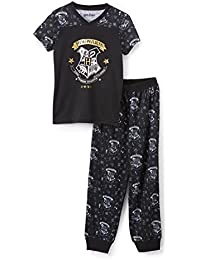 Big Girls Hermione Granger Hogwarts Golden Snitch Crest Jogger Athletic Pajama Set