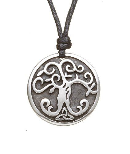 - Amethyst Dublin Tree of Life Necklace Pewter One Sided Adjustable Cord Irish Made