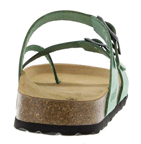 Oak & Hyde Savannah - Vintage Green Leather (BURKINSTOCK Style Sandals) YrngqL