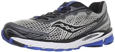 Saucony Men's Progrid Ride 5 Running Shoe,Silver/Grey/Blue,7 M US