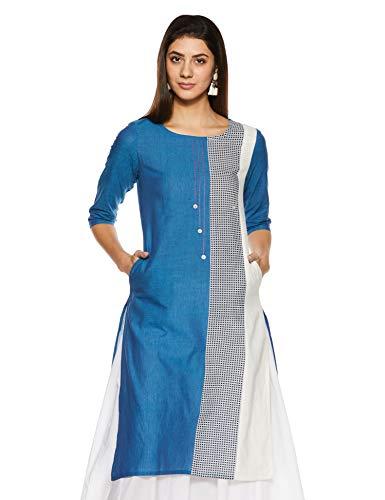 Amazon Brand – Myx Women's Cotton A-Line Kurti