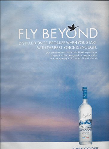 Large **PRINT AD** For 2015 Grey Goose Vodka Fly Beyond Flying Geese - Vodka Beyond