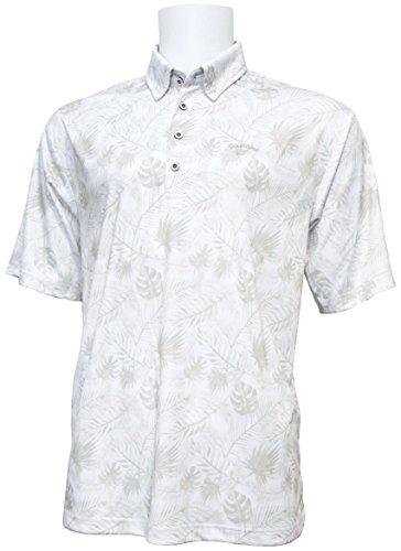 開発するブロック証明ボタニカル柄 半袖ボタンダウンシャツ 2018年春夏モデル