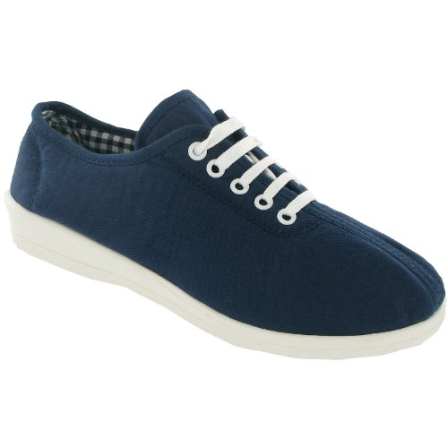 Mirak Lace-Up Textile Lined Womens Shoes - Jeans - Size 36 37 38 39 40 41 azul - azul