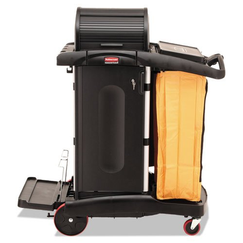 (High-Security Healthcare Cleaning Cart, 22w x 48-1/4d x 53-1/2h, Black, Sold as 1 Each)