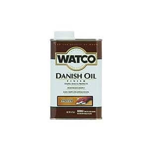 Watco 242219 Danish Oil Wood Finish, Low VOC, Pint, Natural