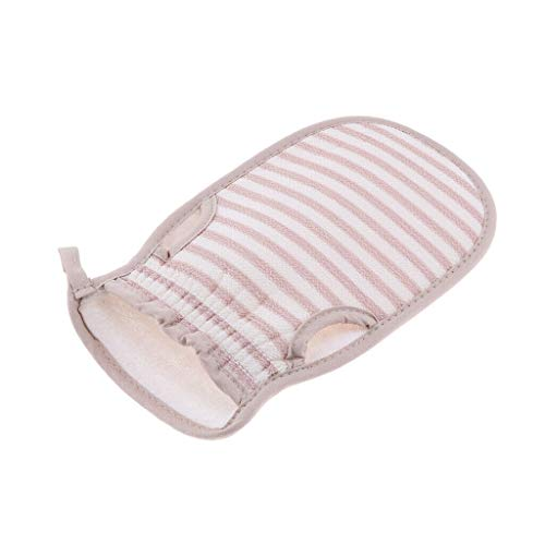 Comfortable Shower SPA Exfoliator Bath Glove Dead Skin Removal Scrub Mitt (Color - Light Pink)