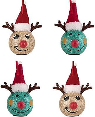 Valery Madelyn - Bola de Navidad de 4 CT, 60 mm, diseño de Elfo ...