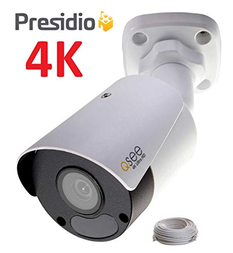 Q-See 4K 8MP Presidio Archer Bullet Camera with Color Night Vision Ultra HD IP Surveillance with H.265+ and IVA, VCA (AR4KB1.1)