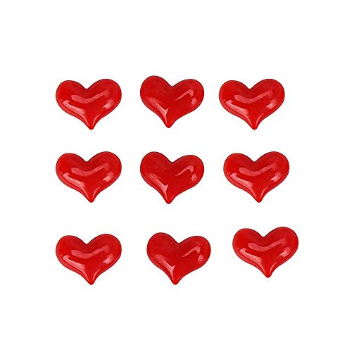 Heart Magnet - Romantic Red Heart Shaped Plastic Refrigerator Magnets Pretty Heart Couple Lover Fridge Magnets Whiteboard Magnets Photo Magnets Kitchen Magnets for Locker Refrigerator Home Decorator Toddlers (9 Pcs