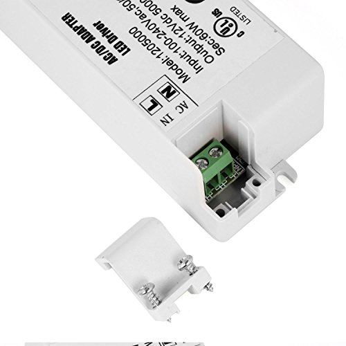 YAYZA! 4-Pack Premium IP44 12V 5A 60W Low Voltage LED Driver Transformer AC DC Switching Power Supply by YAYZA! (Image #4)
