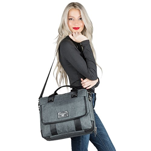 Chrono Protective Laptop/Tablet Shoulder Messenger Bag Carrying Case w/Handle For 13.3'' - 14'' Tablets, 2in1, Ultrabooks Netbooks by Vangoddy (Image #5)