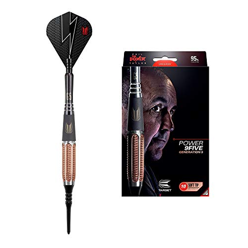 Target Darts - Power 9Five Generation 5 Soft Tip Darts with ChoukouTip30 Pieces