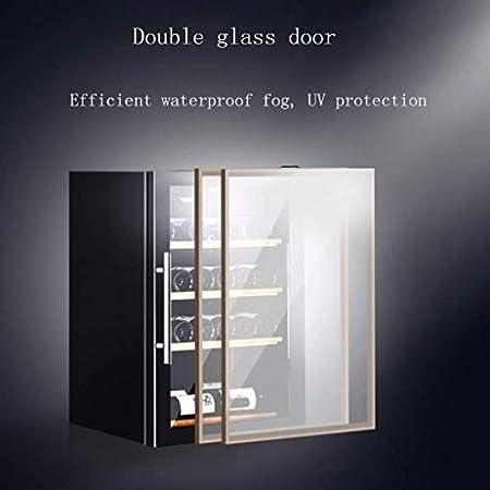 Refrigerador de Vino - Refrigerador de Vino Tinto Refrigerador de Vino de encimera - Mini refrigerador de Vino Compacto Independiente con Control Digital, Estante de Haya extraíble
