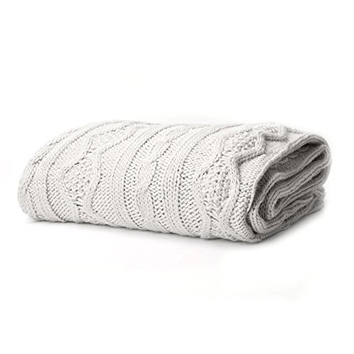 Battilo Luxury Cable Knit Throw Blanket, 50\