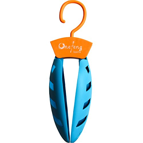 Onefeng Sports 1 Pack Foldable Wet Suit Hanger For Traveling Camping Laundry Hotel Plastic Clothes Wetsuit Hangers (Blue, 1 Pack) by Onefeng Sports (Image #5)