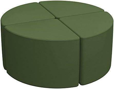 ECR4Kids Softzone Pie Ottoman Orange Furniture for Kids Junior 12 H