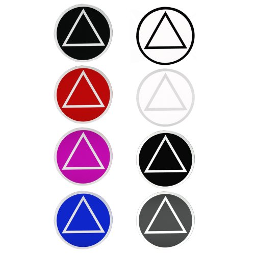 Alcoholics Anonymous AA Recovery Symbol Medium Round Stickers, Set of 8, (8) Assorted Colors (Round Symbol Stickers)
