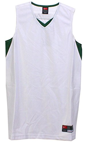 404f41ab149 Amazon.com  Nike Women s Unified White   Green Blank Basketball Jersey Size  Small  Sports Collectibles