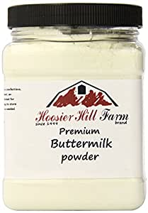 Buttermilk Powder, Hoosier Hill Farm (2 lbs) Gluten free and Hormone free. Made in USA