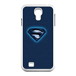 Samsung Galaxy S4 9500 Cell Phone Case White_Superman Blue Logo Ieqqg