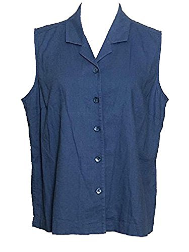CHRISTOPHER & BANKS Women's Sleeveless Button Front Blouse X-Large Denim Blue from CHRISTOPHER & BANKS