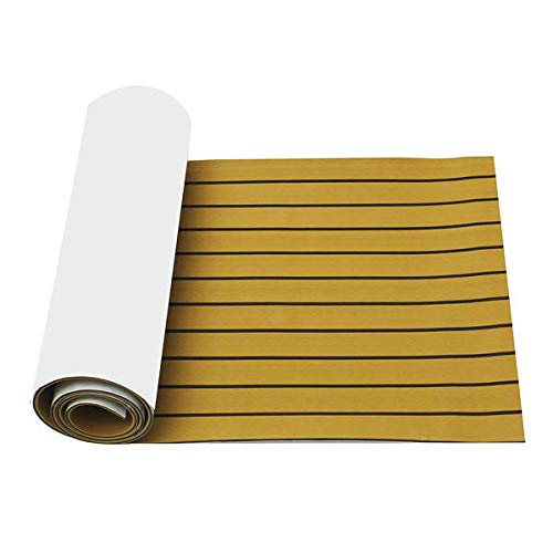 Anddoa EVA Foam Deep Yellow with Black Strip Boat Flooring Faux Teak Decking Sheet Pad - #001 by Anddoa (Image #5)