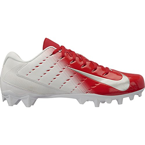 43796b557 Nike Men s Vapor Untouchable Varsity 3 TD Football Cleat White Metallic  Silver University Red Size 9 M US