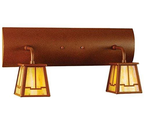 - Meyda Tiffany 66086 Bungalow Valley View 2 Light Vanity Light Fixture, 18