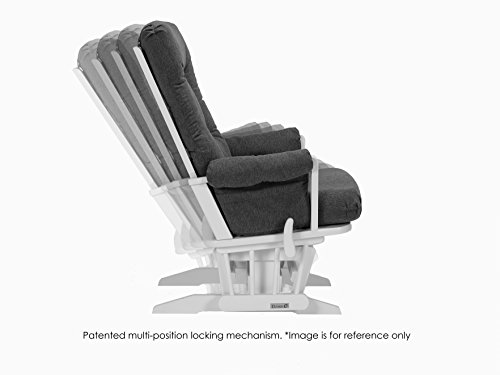 Dutailier Modern Glider with Multiposition, Recline and Ottoman Combo, White/Dark Grey by Dutailier (Image #4)