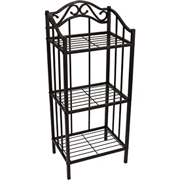 Chapter Bathroom Floor 3 Tier Storage Shelf, Bronze