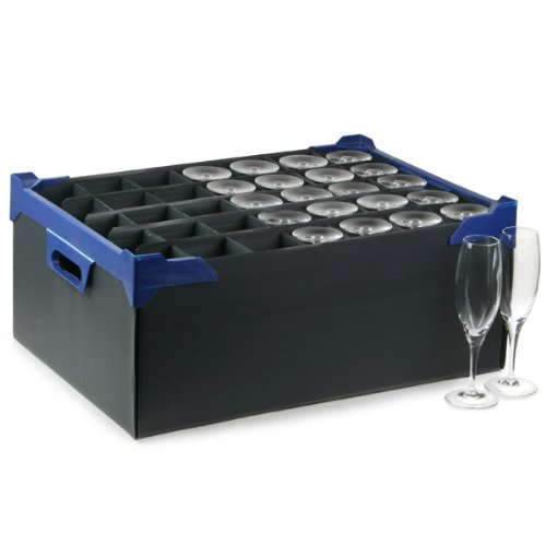 Stacking Glass Storage Boxes 35 Small Compartment - Set of 5 - Champagne Flutes Storage Box Drinkstuff