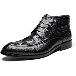 Zorgen New Mens Boots Genuine Leather Crocodile Pattern Leather Wedding Dress Boots