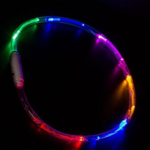 Windy City Novelties LED Light Up Necklace - 6 Multi Color Modes - 27