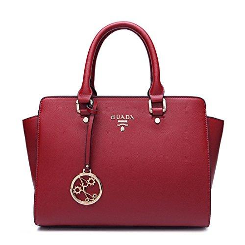 Leather Woman's Shoulder Bag Messenger Bag Tote Bag Bags A083 (red)