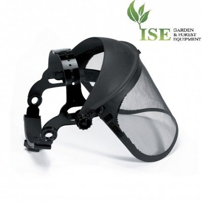 ISE Heavy Duty Professional Face Shield for Brush Cutter. Adjustable with Metal Net Shield. Tecomec Part Number 5120912