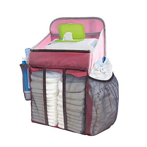 (COCODE Hanging Diaper Caddy and Nursery Organize for Baby Crib, Playard, Changing Table, Diaper Caddy Stacker for Baby Essentials & Baby Shower Gifts for Newborn)