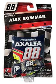 NASCAR Authentics Alex Bowman #88 Diecast Car 1/64 Scale - 2018 Wave 4 - with Free Plastic Hood - Collectible
