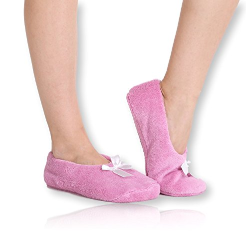 pembrook-fuzzy-soft-coral-fleece-slippers-pink-large-9-105-ballet-style-with-non-skid-sole-faux-shea