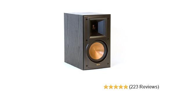 2-Way Bookshelf Speakers,Black,Dimensions Klipsch RB-51 II Pr 11.4 H x 6.5 W x 10.75 D