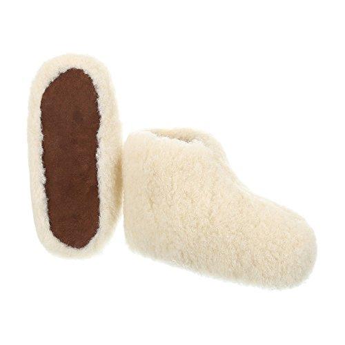 Ital-Design Damen und Herren Schuhe, PAN-1-104, Hausschuhe Weiß