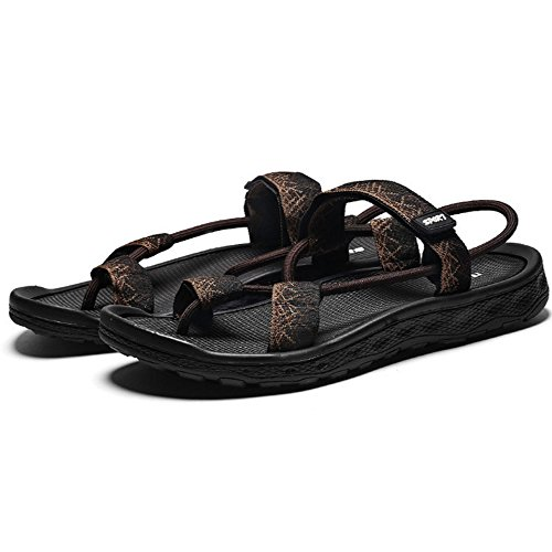 da per Open adatti casual toe estivi del slip uomo sandali sandali tempo gli sportivo libero confortevole sport Brown Xiaoqin slip qtSO7xAO