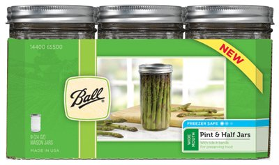 JARDEN HOME BRANDS 1440065500 Ball Wide Mouth Mason Jars, 24 oz(Pack of 9) Prime Pet Deals