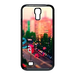 Samsung Galaxy S4 Case,Multicolored City Street Letters Hard Shell Back Case for Black Samsung Galaxy S4 Okaycosama489733