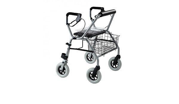 Andador Rollator bariátrico con marco plegable de 4 ruedas ...