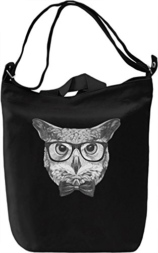 Smart owl Borsa Giornaliera Canvas Canvas Day Bag| 100% Premium Cotton Canvas| DTG Printing|